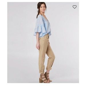 Free People Utility Boyfriend Cropped Pant